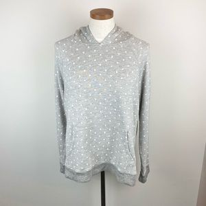 Sundry Polka Dot Hooded Sweatshirt